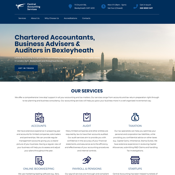 Central Accounting Lead Gen Site